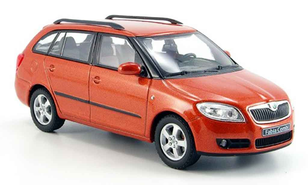 skoda fabia miniature ii kombi orange abrex 1 43 voiture. Black Bedroom Furniture Sets. Home Design Ideas