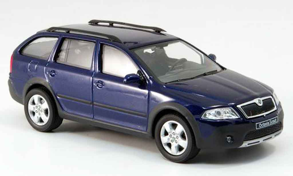 skoda octavia combi scout blue abrex diecast model car 1. Black Bedroom Furniture Sets. Home Design Ideas