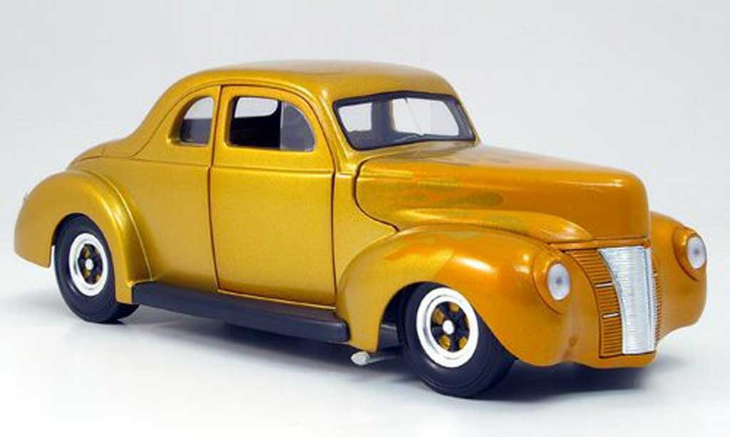 Ford Hot Rod 1/18 Eagle deluxe coupe hot rod gold 1940 diecast model cars