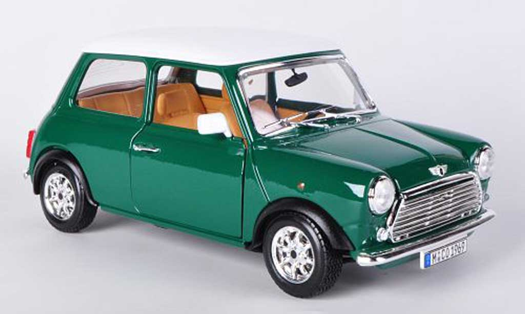 austin mini cooper miniature verte blanche 1 16 1969 burago 1 18 voiture. Black Bedroom Furniture Sets. Home Design Ideas