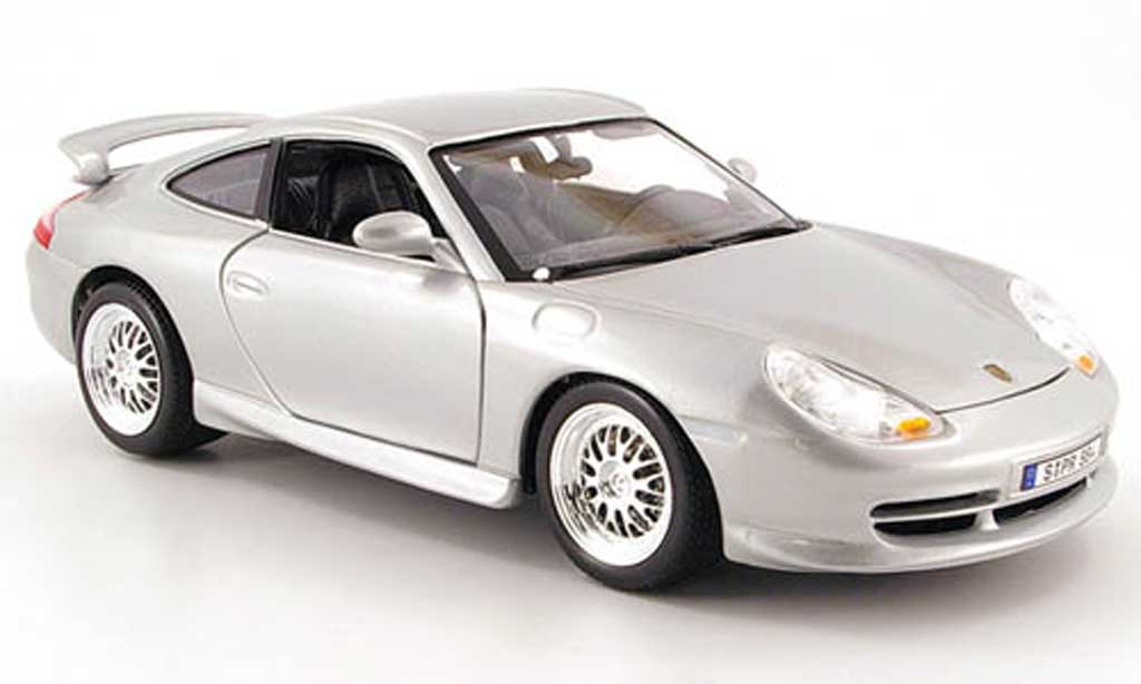 Porsche 996 GT3 1/18 Burago grey metallisee 1997 diecast model cars