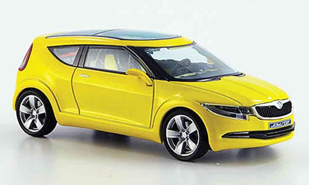 Skoda Joyster 1/43 Abrex concept car jaune miniature