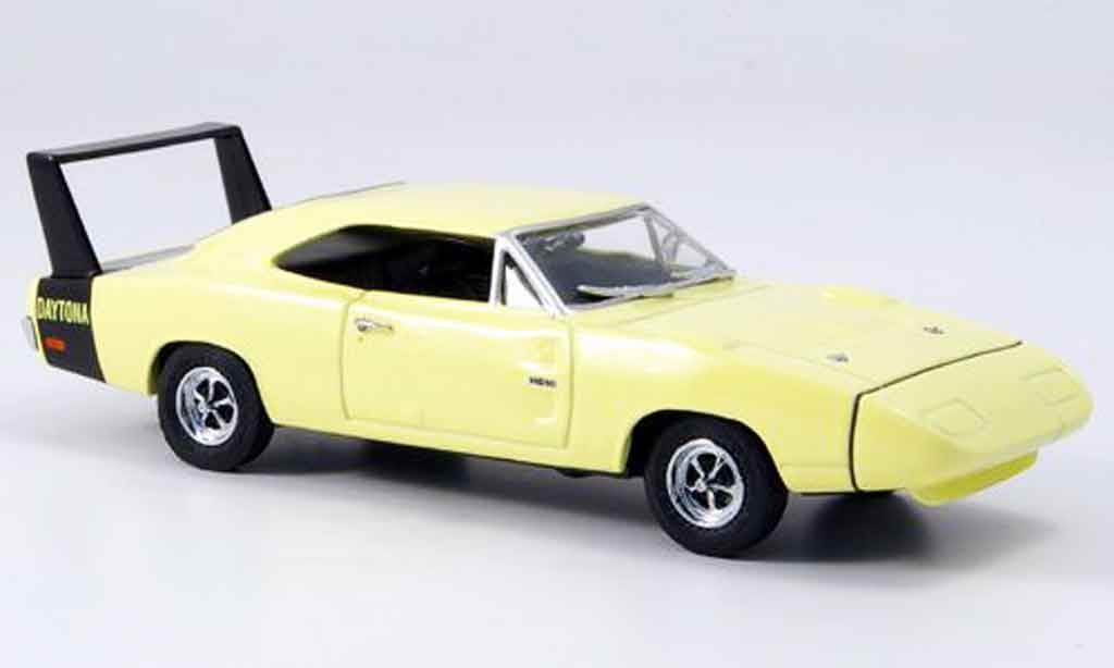 Dodge Charger 1969 1/43 Eagle Daytona jaune Strassenversion miniature