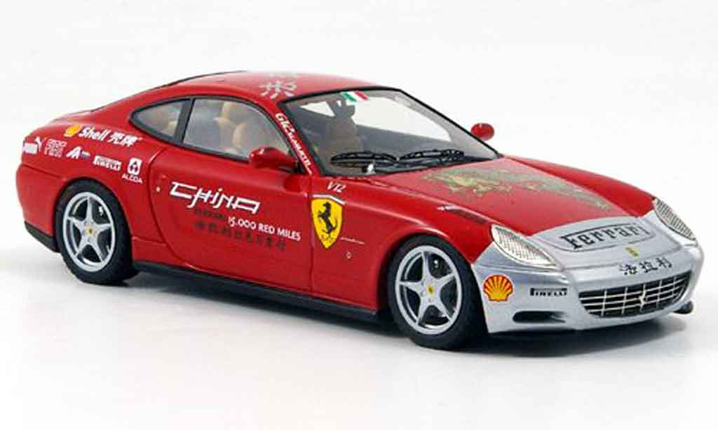 Ferrari 612 1/43 Look Smart scaglietti rouge grise metallisee 15000 red miles tour miniature