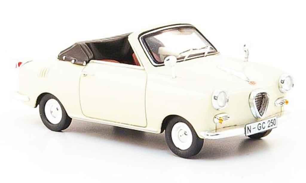 Goggomobil TS 1/43 Premium Cls 250 Cabriolet beige miniature