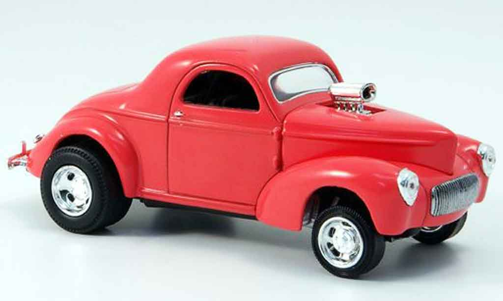 Willys Coupe 1941 1/43 Eagle 1941 Hot Rod rouge miniature