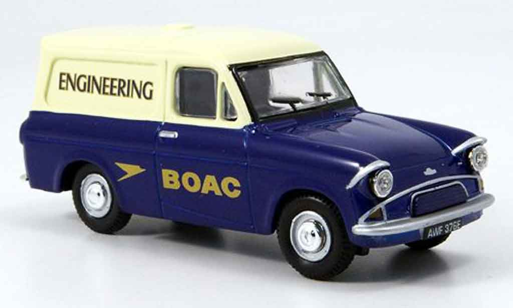 Ford Anglia 1/43 Oxford Van bleu blanche BOAC Engineering miniature