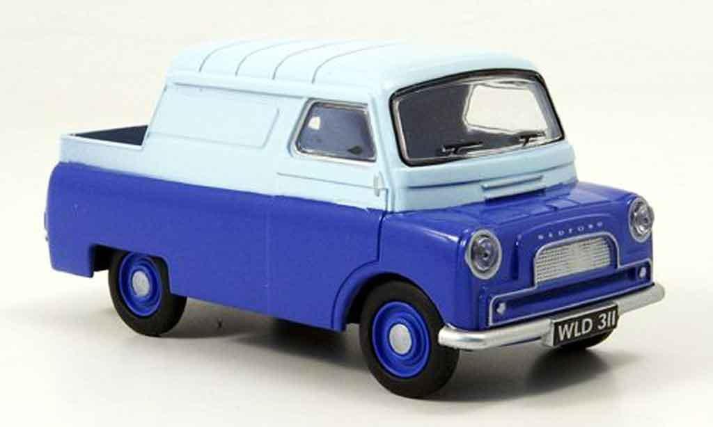 Bedford CA 1/43 Oxford Half Cab bleu blanche Kasten Pritsche miniature