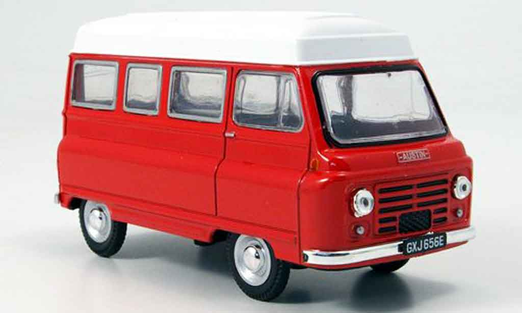 Austin J2 1/43 Oxford High Top rouge blanche Hochdachbus miniature