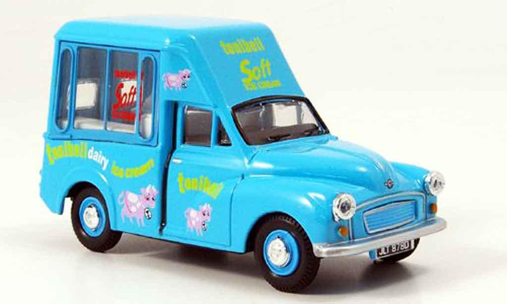 Morris Minor 1/43 Oxford Van bleu Tonibell Hochdach Eiswagen