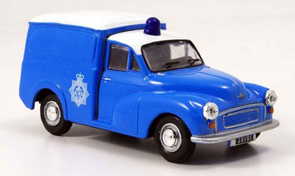 Morris Minor 1/43 Oxford Van bleu blanche police Bermuda miniature