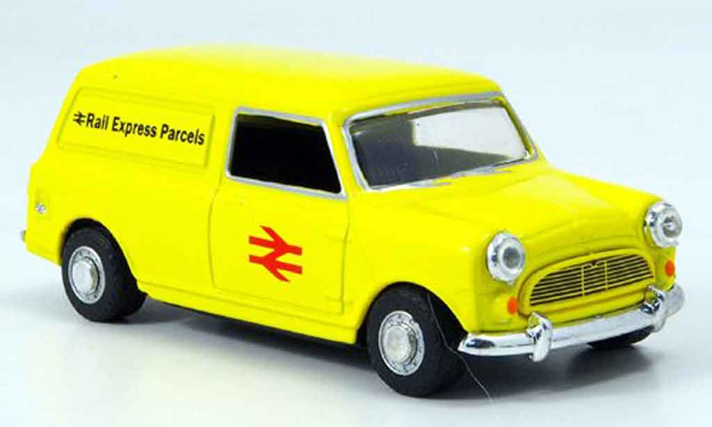 Austin Mini Van 1/43 Oxford jaune Rail Express Parcels
