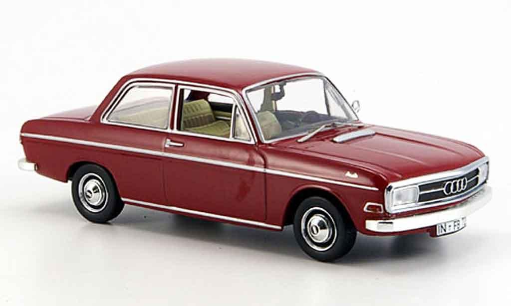 Audi 72 1/43 Norev rouge 2 Turer 1965 miniature