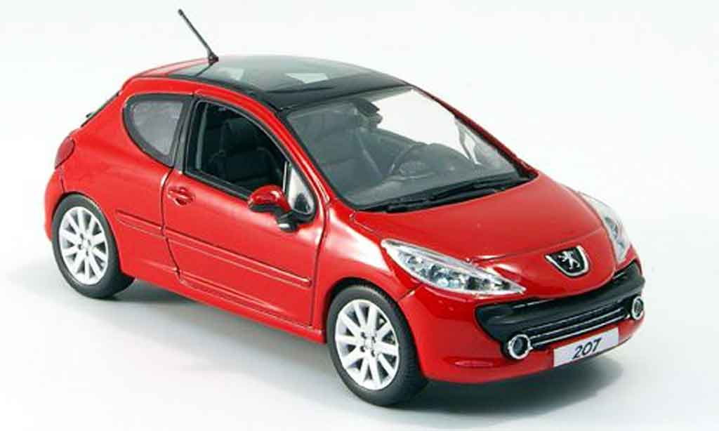 peugeot 207 miniature feline rouge 3 portes 2006 norev 1 43 voiture. Black Bedroom Furniture Sets. Home Design Ideas