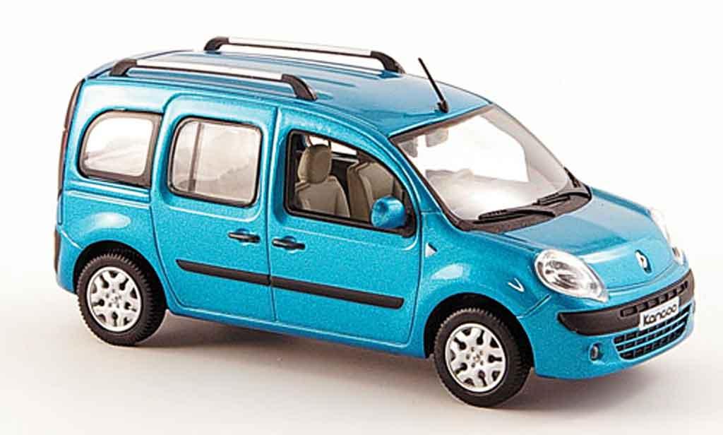 Renault Kangoo Miniature Bleu Avec Fenstern 2008 Norev 1