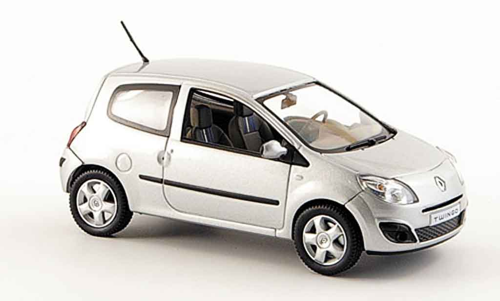 renault twingo miniature grise 2007 norev 1 43 voiture. Black Bedroom Furniture Sets. Home Design Ideas