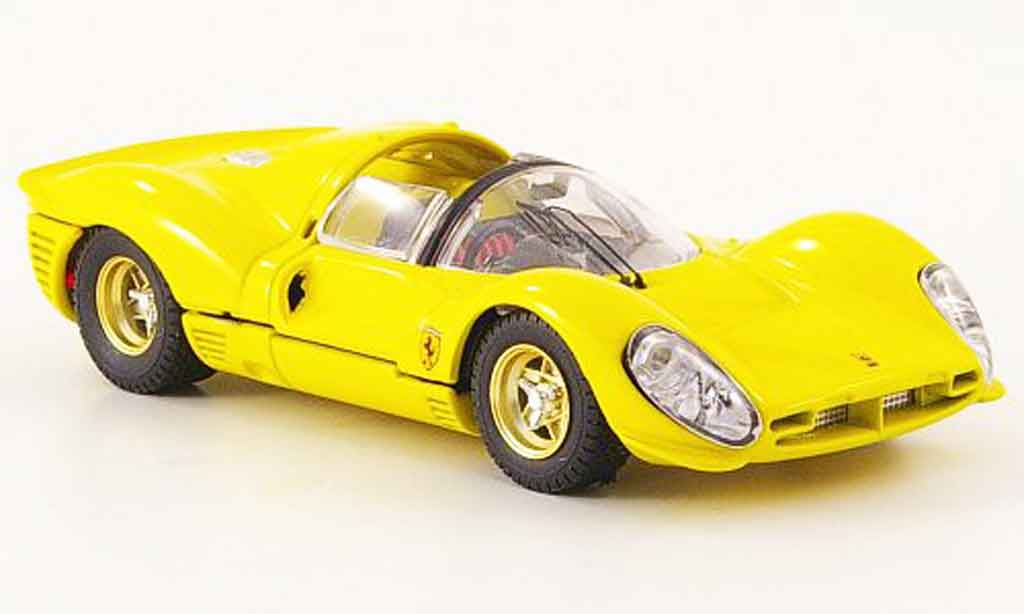 Ferrari 330 P4 1/43 Bang spider jaune strassenversion miniature