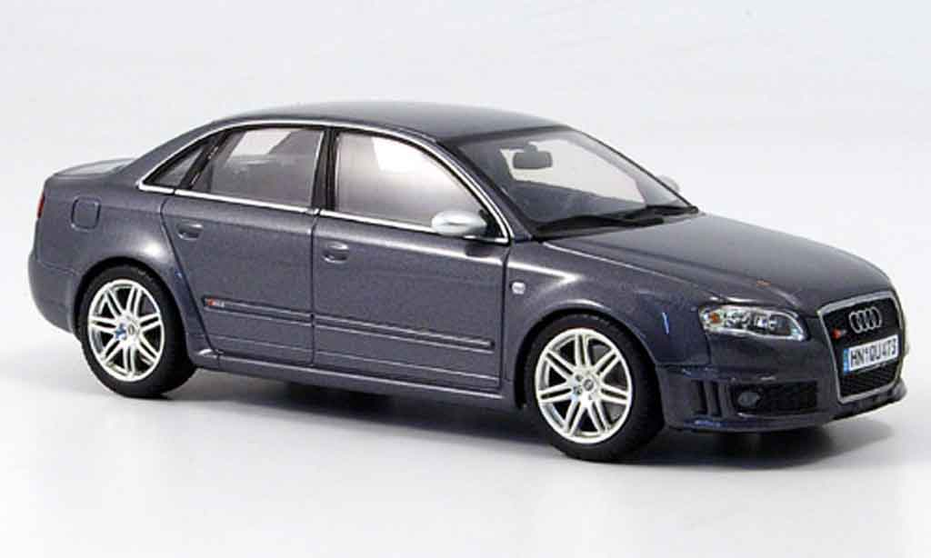 Audi RS4 1/43 Minichamps grise Limousine 2006
