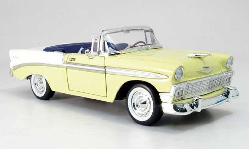chevrolet bel air 1956 yellow white yat ming diecast model. Black Bedroom Furniture Sets. Home Design Ideas