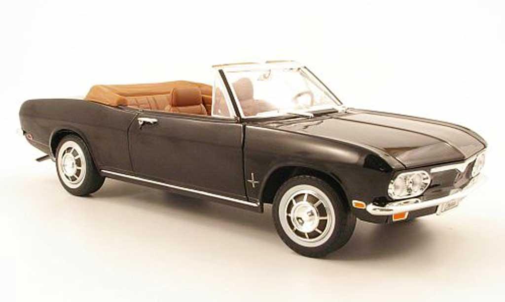 Chevrolet Corvair 1/18 Yat Ming monza convertible noire 1969 miniature