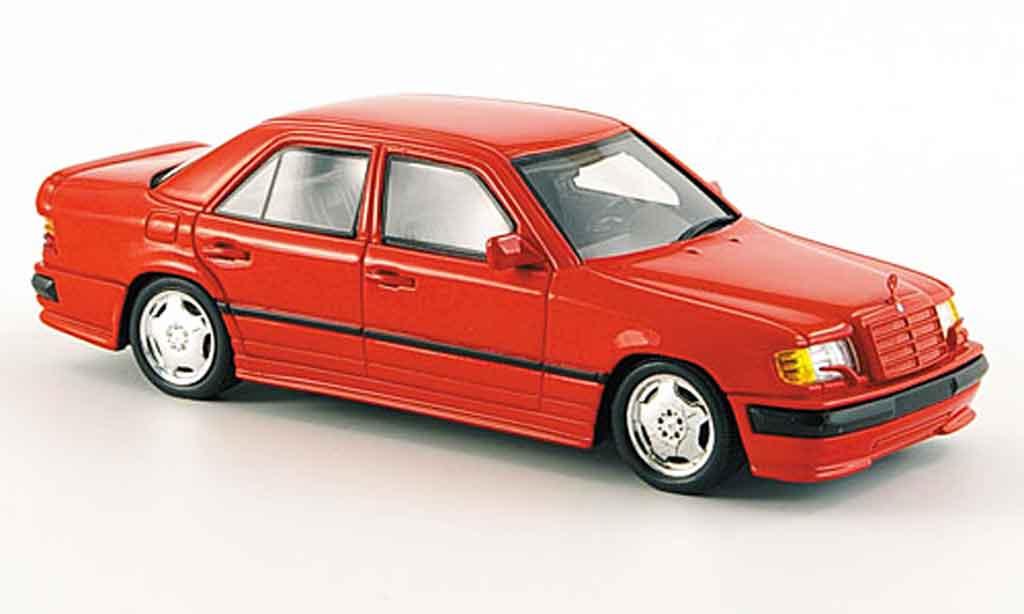 Mercedes 300 E 1/43 Spark AMG red 1987 diecast model cars
