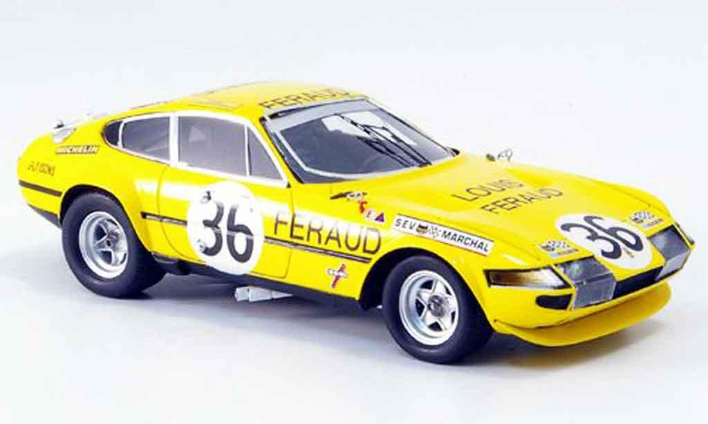 Ferrari 365 GTB/4 1/43 Red Line no.36 achter platz le mans 1972 diecast model cars