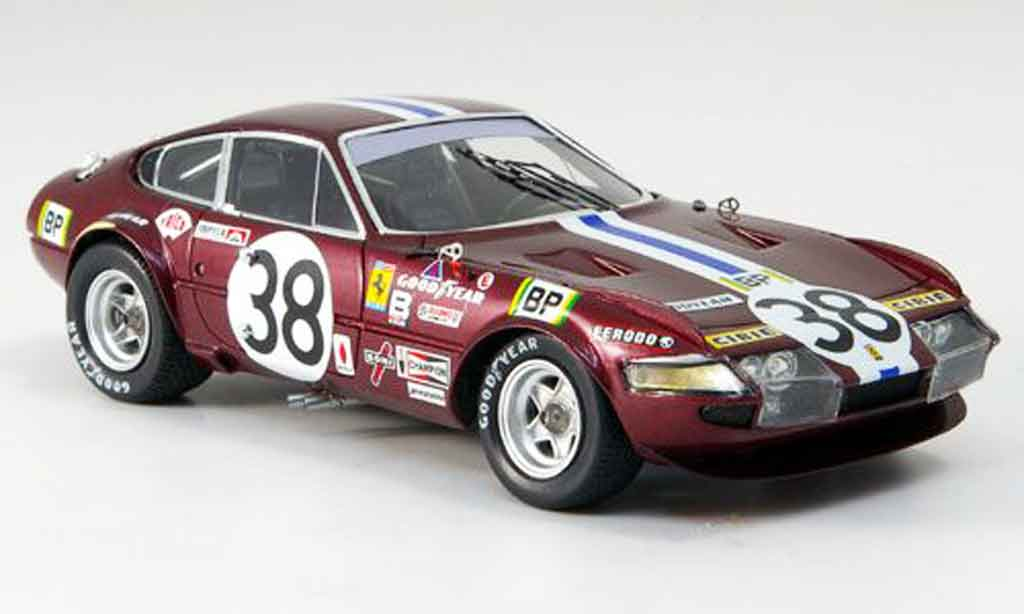 Ferrari 365 GTB/4 1/43 Red Line no.38 jarier buchet neunter le mans 1972 diecast model cars