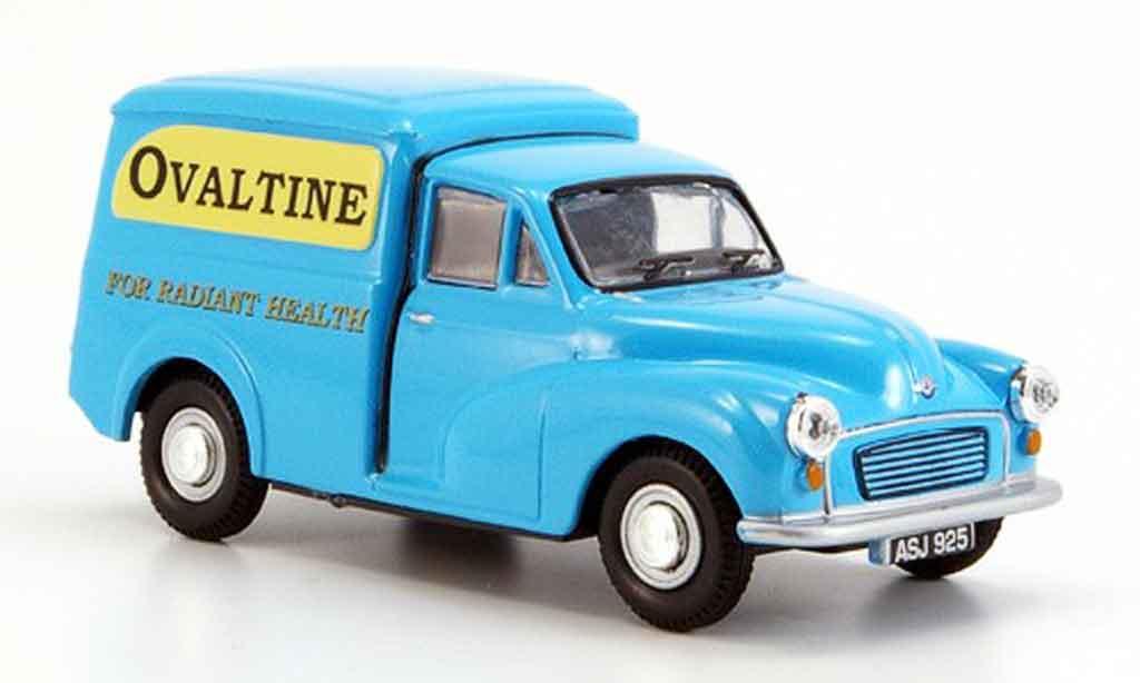 Morris Minor 1/43 Oxford Van bleu Ovaltine miniature