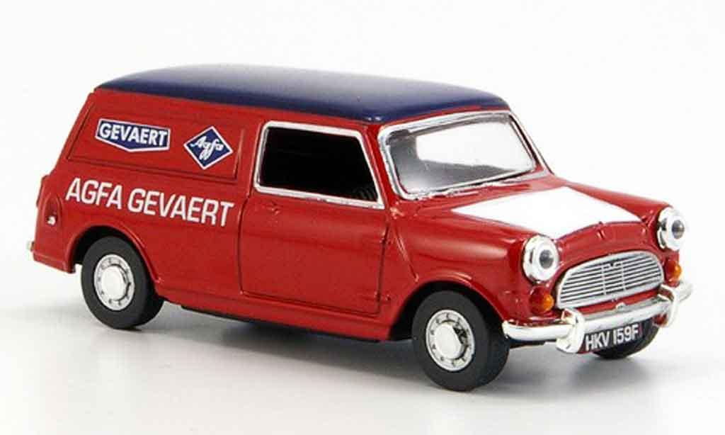 Austin Mini Van 1/43 Oxford rouge bleu Agfa Gevaert miniature