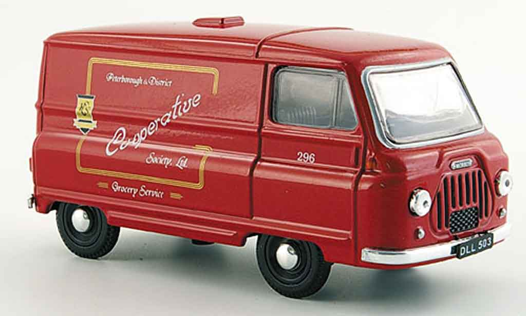 Morris J2 1/43 Oxford Van  rouge Peterborough Co operative miniature