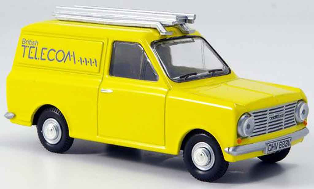 Bedford HA 1/43 Oxford Van jaune British Telecom Kasten miniature