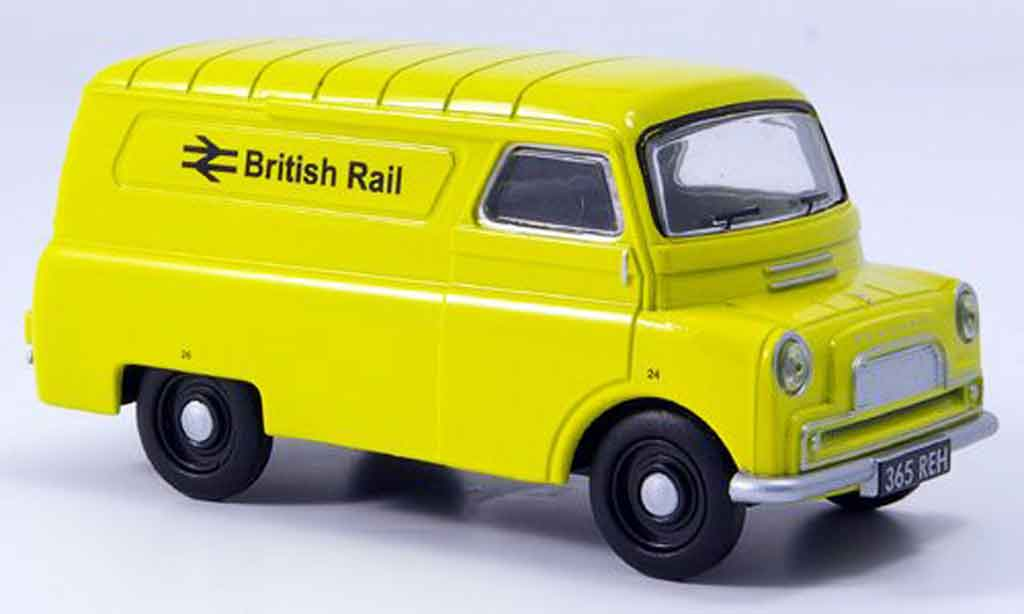 Bedford CA 1/43 Oxford Van jaune British Rail Kasten miniature