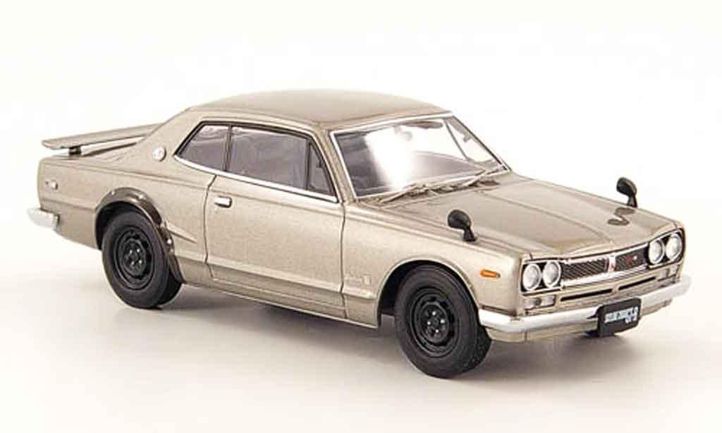 Nissan Skyline 2000 1/43 Ebbro 2000GT R (KPGC10) gray metallisee 2 Turer 1971 diecast