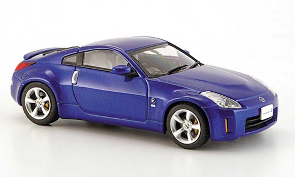 Nissan 350Z 1/43 Ebbro Fairlady bleu Facelift 2007 miniature