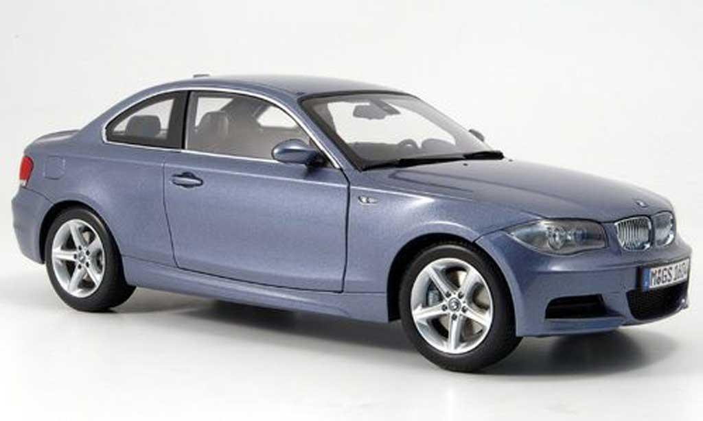 Bmw 120 E82 1/18 Kyosho i coupe bleu grise miniature