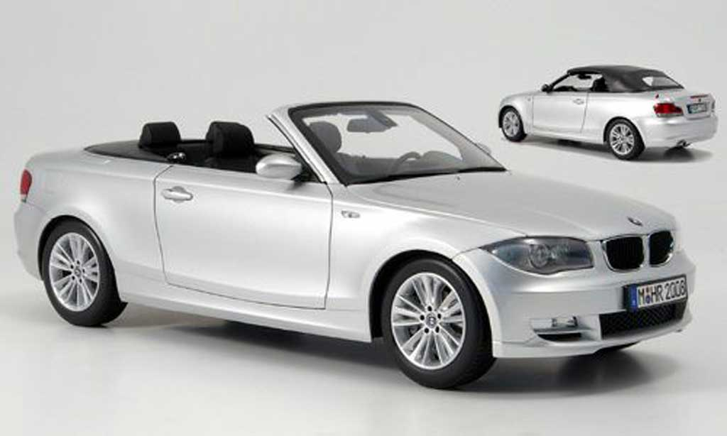 bmw 118 e88 miniature i cabriolet grise kyosho 1 18 voiture. Black Bedroom Furniture Sets. Home Design Ideas