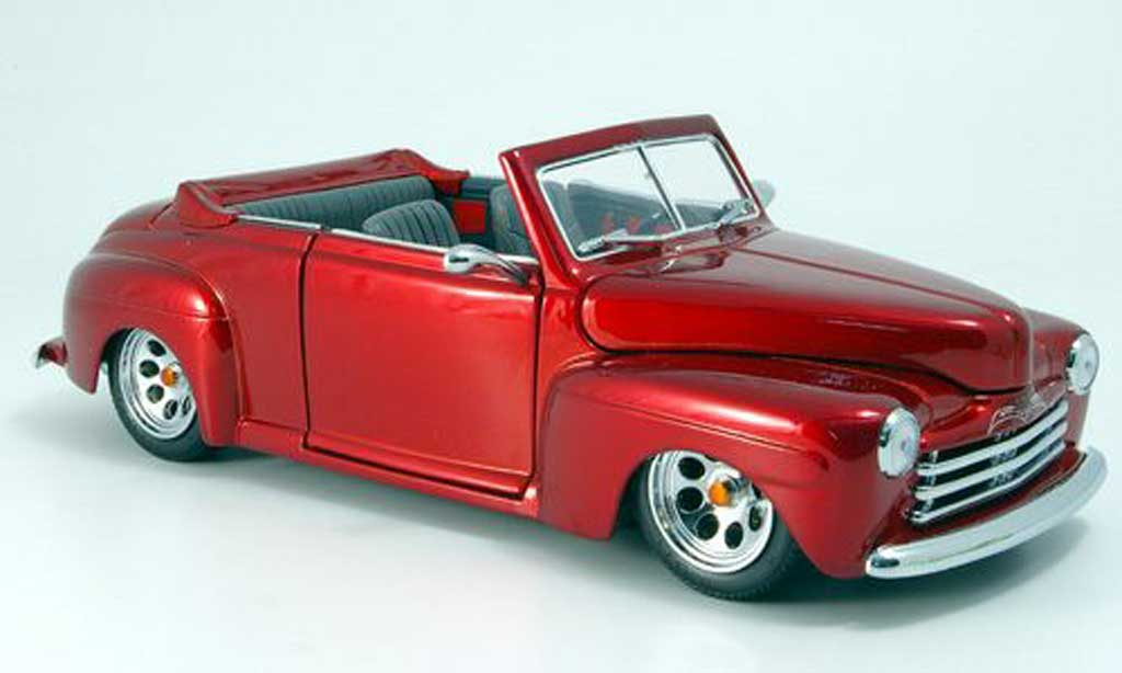 Ford Hot Rod 1/18 Yat Ming convertible red-met. offen 1948 diecast model cars