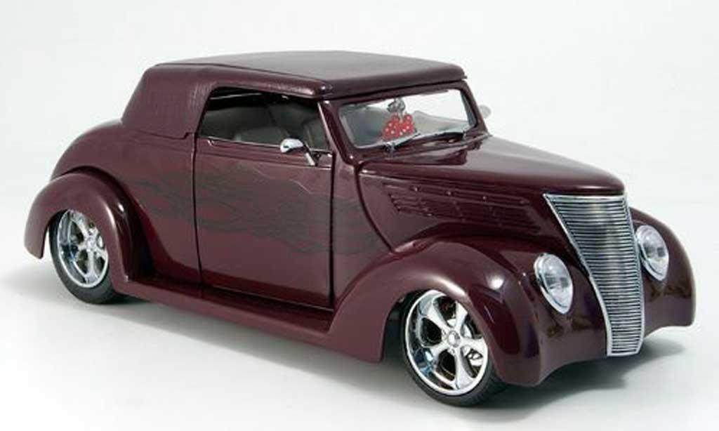Ford Hot Rod 1/18 Yat Ming convertible rouge geschlossen 1937