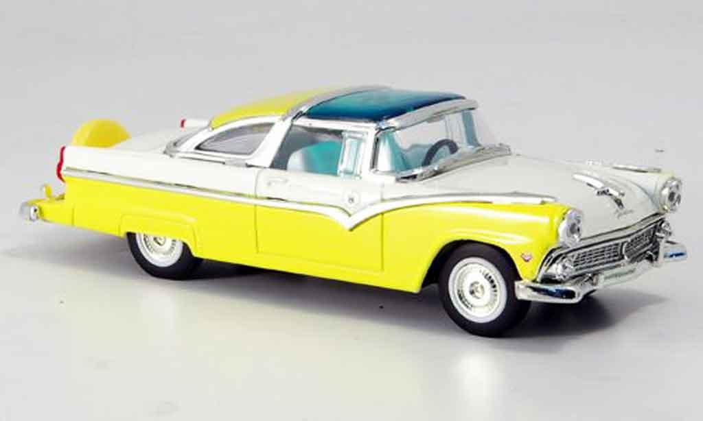 Ford Crown 1/43 Yat Ming Victoria jaune blanche 1955 miniature