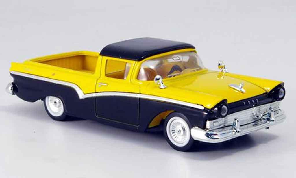 Ford Ranchero 1/43 Yat Ming noire jaune 1957 miniature