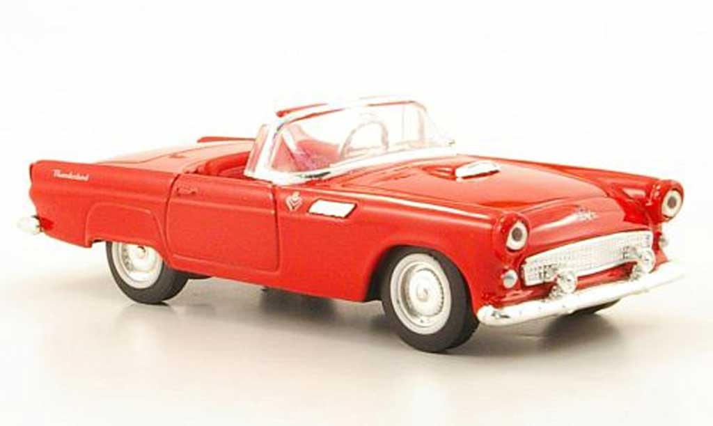 Ford Thunderbird 1955 1/43 Yat Ming Roadster rouge miniature