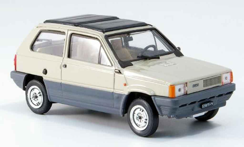 Fiat Panda 1/43 Brumm 45 beige avec capote Doppelfaltdach 1981 miniature