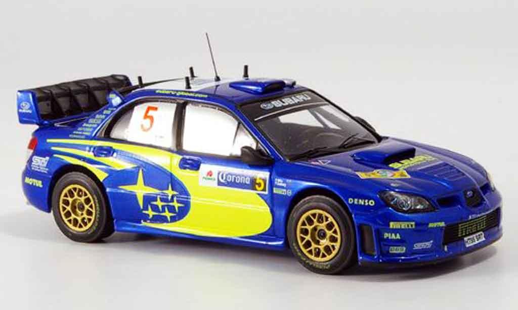 Subaru Impreza WRC 1/43 IXO no.5 solberg mills rallye mexico 2006 miniature