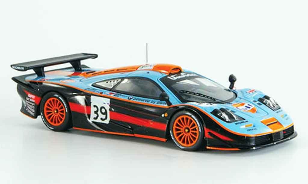 McLaren F1 GTR 1/43 IXO No.39 GULF Bellm Gilbert Sekiya Le Mans 1997 miniature