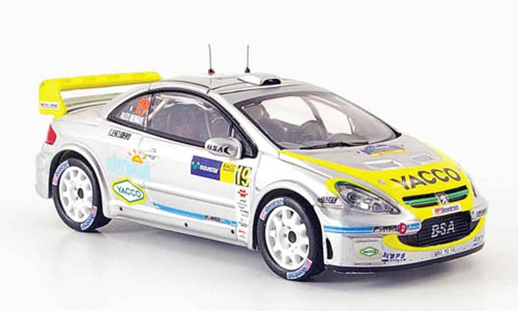 Peugeot 307 WRC 1/43 IXO no.19 bengue escudero racc catalunya 2006 miniature