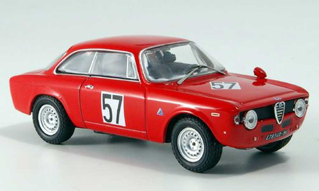 Alfa Romeo Giulia 1600 GTA 1/43 M4 No.57 T.Zeccoli Brunn 1969 miniature