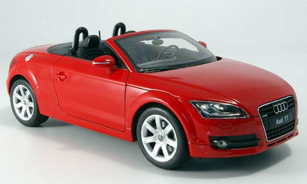 audi tt roadster miniature rouge sans capote welly 1 18. Black Bedroom Furniture Sets. Home Design Ideas
