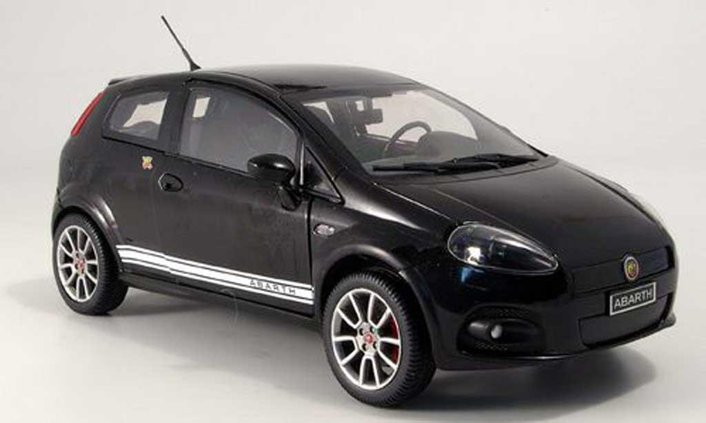 Fiat Grande Punto Abarth 1/18 Mondo Motors ss noire miniature