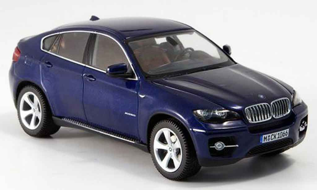 bmw x6 e71 miniature xdrive 50 i bleu 2008 schuco 1 43 voiture. Black Bedroom Furniture Sets. Home Design Ideas