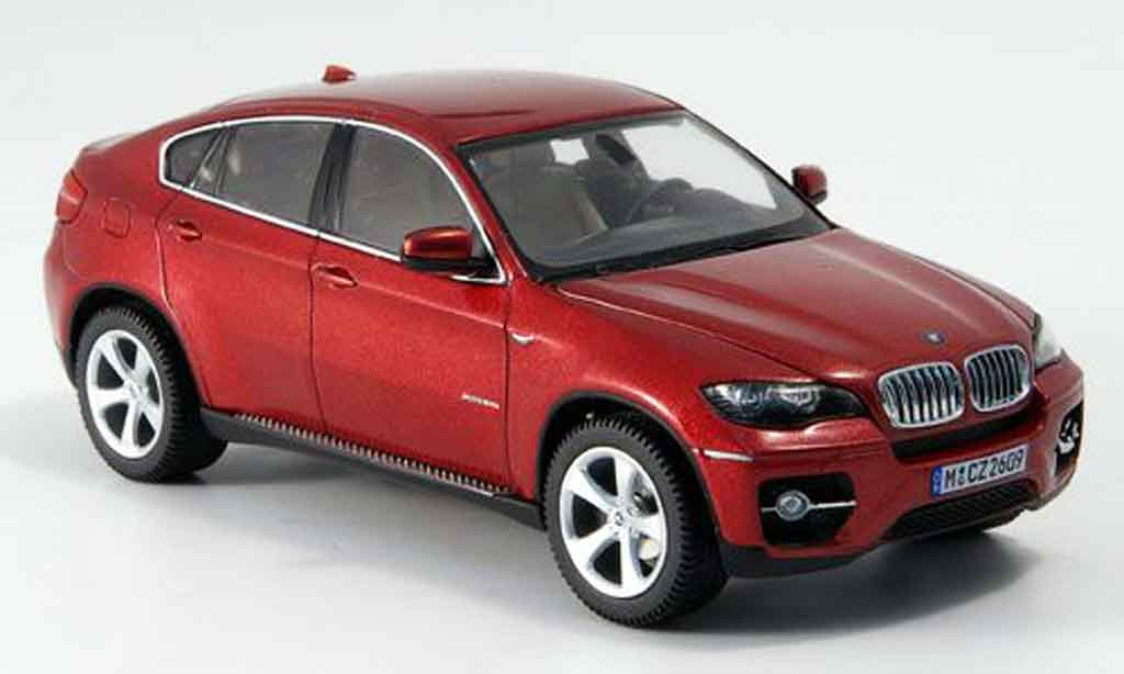 Bmw X6 E71 1/43 Schuco xDrive 50 i rouge 2008 miniature
